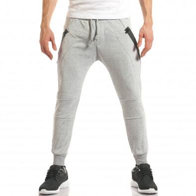 Pantaloni sport bărbați ChRoy gri it140317-67 2