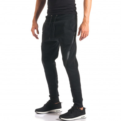 Pantaloni baggy bărbați Top Star negri it160816-1 4