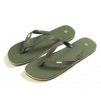 Papuci bărbați FM verzi it150616-6 2
