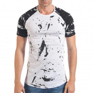 Tricou bărbați Eksi alb il060616-76 2