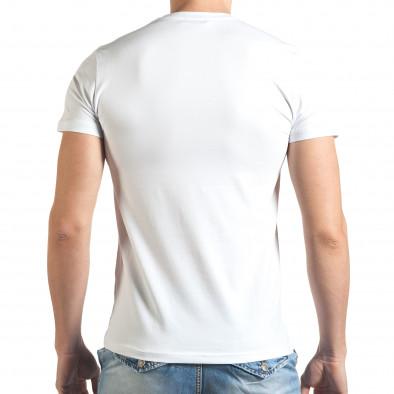 Tricou bărbați Frank Martin alb tsf140416-71 3