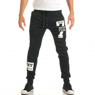 Pantaloni bărbați New Mentality negru it191016-17 2