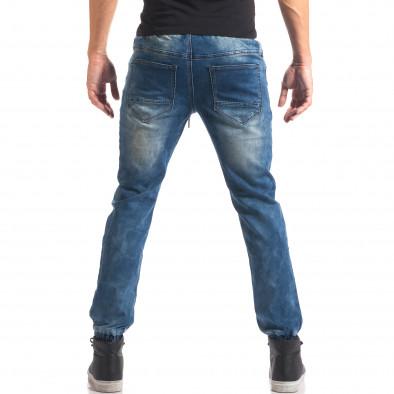 Blugi bărbați Leeyo Jeans albaștri it150816-24 3