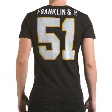 Tricou bărbați Franklin negru il170216-8 3
