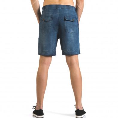 Pantaloni scurți bărbați Bread & Buttons albaștri it110316-79 3