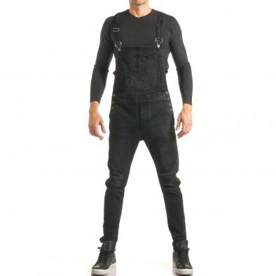 Salopetă de blugi bărbați Always Jeans negri it181116-62 5