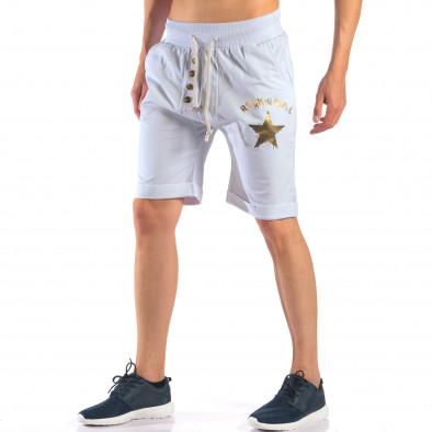 Pantaloni scurți bărbați Black Fox albi it160616-13 4