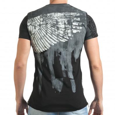 Tricou bărbați Eksi negru tsf140416-5 3