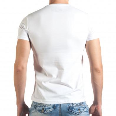 Tricou bărbați Just Relax alb il140416-35 3