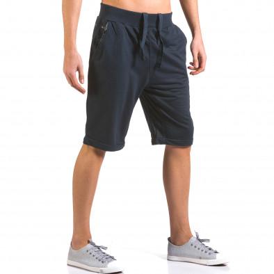 Pantaloni scurți bărbați Dress&GO albaștri it160316-20 4