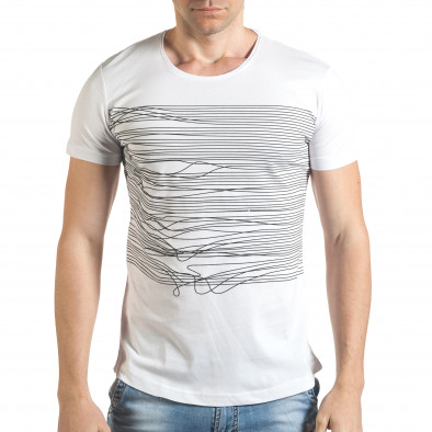 Tricou bărbați Eksi alb il140416-3 2