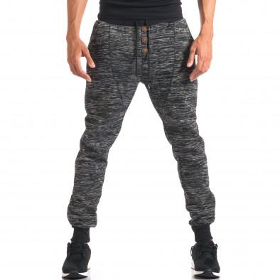 Pantaloni baggy bărbați Urbaboy gri it160816-33 2
