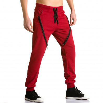 Pantaloni baggy bărbați DelPiero roșii ca190116-24 4