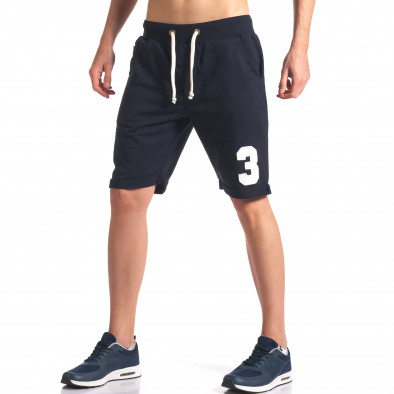 Pantaloni scurți bărbați New Men albaștri it260416-21 4