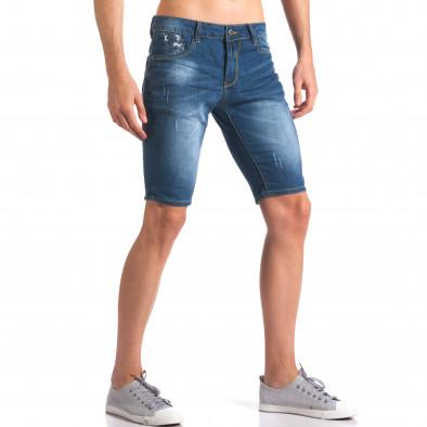 Blugi scurți bărbați Yan's Jeans albaștri it250416-32 4