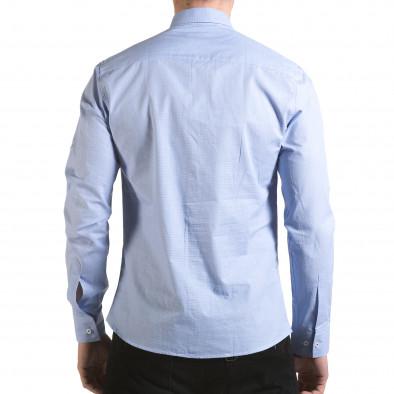 Cămașă cu mânecă lungă bărbați Buqra albastră il170216-110 3