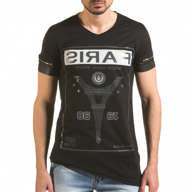 Tricou bărbați Madmext negru tsf060416-4 2