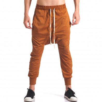 Pantaloni baggy bărbați Hancity maro it250416-5 2