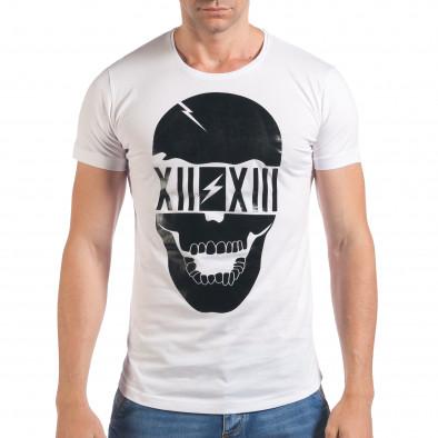 Tricou bărbați Eksi alb il060616-74 2