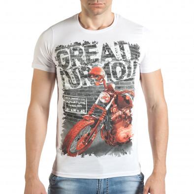 Tricou bărbați Just Relax alb il140416-51 2