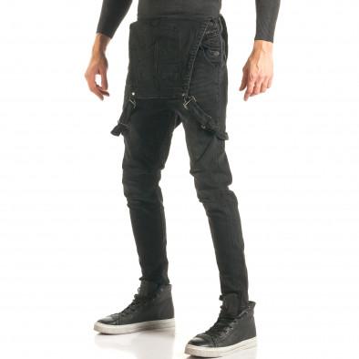 Salopetă de blugi bărbați Always Jeans negri it181116-62 4