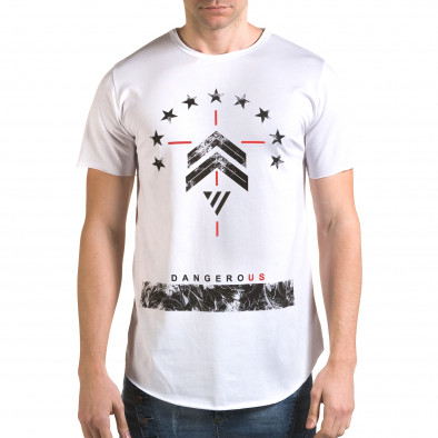 Tricou bărbați Man alb it090216-72 2