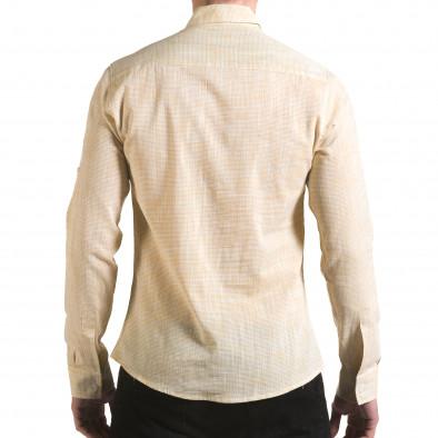 Cămașă cu mânecă lungă bărbați Buqra galbenă il170216-121 3