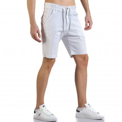 Pantaloni scurți bărbați Marshall albi it110316-37 4
