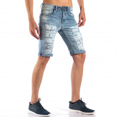 Blugi scurți bărbați Always Jeans albaștri it160616-17 4