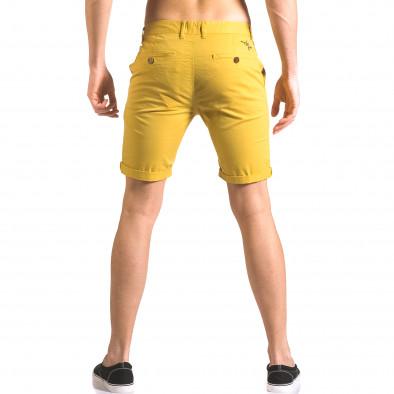 Pantaloni scurți bărbați XZX-Star galbeni ca050416-59 3