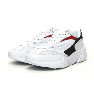 Adidași albi combinați pentru bărbați it051219-3 3