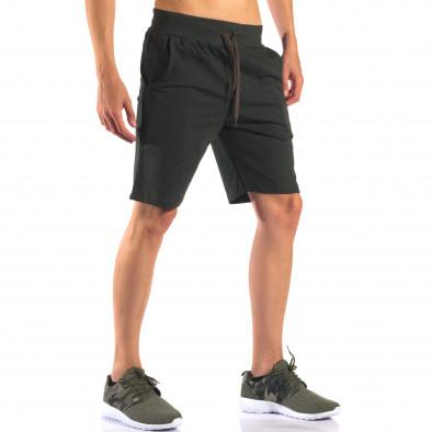 Pantaloni scurți bărbați Social Network verzi it160616-6 4