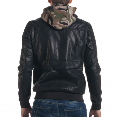 Geacă din piele ecologica bărbați Maximal neagră it191016-88 3