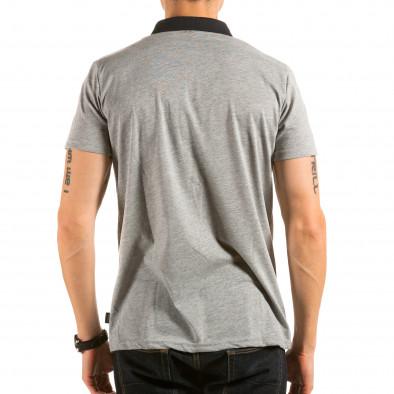 Tricou cu guler bărbați Catch gri il180215-102 3