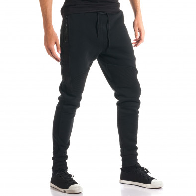 Pantaloni baggy bărbați Top Star negri ca280916-11 4
