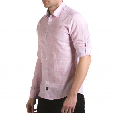 Cămașă cu mânecă lungă bărbați Buqra roz il170216-124 4