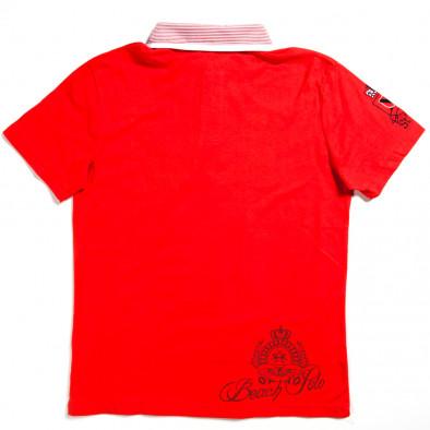 Tricou cu guler bărbați X-Name roșu 140313-28 2