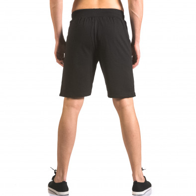 Pantaloni scurți bărbați Me & You negri ca050416-44 3