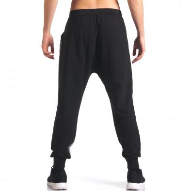 Pantaloni baggy bărbați FCSM negri it260416-39 3