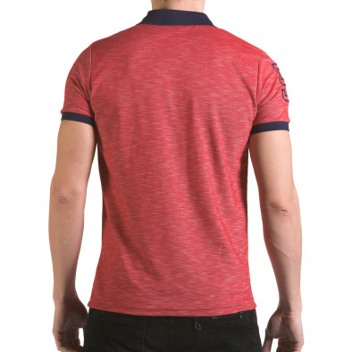 Tricou cu guler bărbați Franklin roșu il170216-37 3