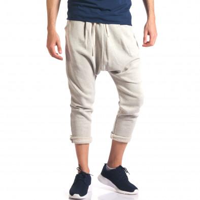 Pantaloni baggy bărbați FCSM bej it260416-36 4