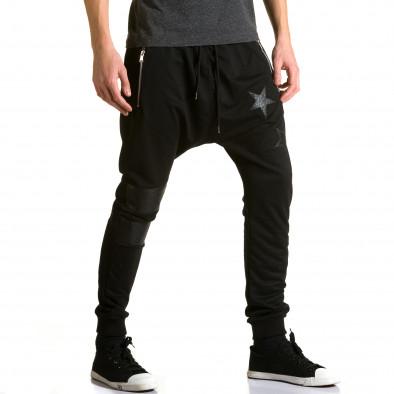 Pantaloni baggy bărbați Jack Davis negri ca190116-21 4