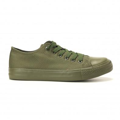 Teniși în verde militar pentru bărbați it260117-33 2
