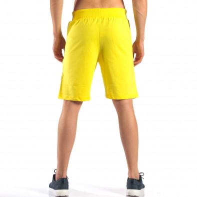 Pantaloni scurți bărbați Social Network galbeni it160616-10 3
