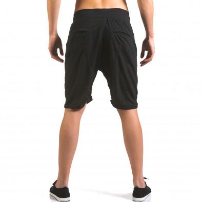 Pantaloni scurți bărbați Dress&GO negri it160316-24 3