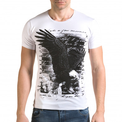 Tricou bărbați Lagos alb il120216-52 2