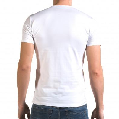 Tricou bărbați Lagos alb il120216-19 3