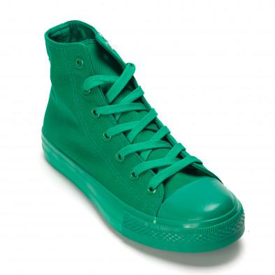 Teniși înalți verzi pentru bărbați it090616-32 3
