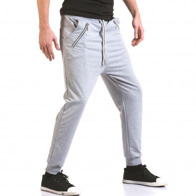 Pantaloni baggy bărbați Franklin gri il170216-140 4