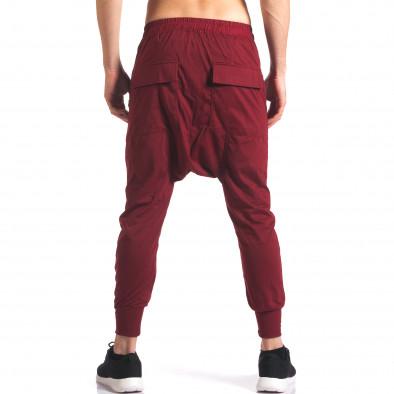 Pantaloni baggy bărbați Hancity roșii it250416-4 3